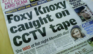 Amanda Knox false cctv tabloid article 2007